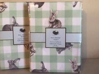 (2) Matching Easter Table Cloths