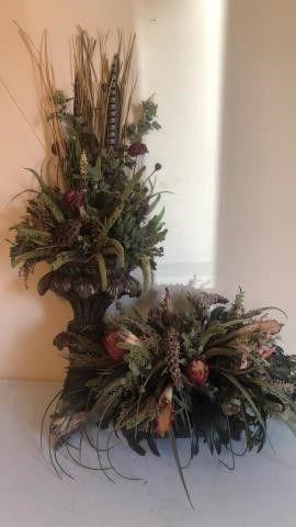 (2) Decorative Floral arrangements