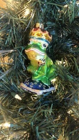 Radko Glass Frog Ornament