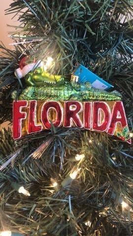 Radko ?FL Lounge Lizard? Ornament