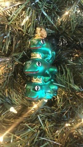 Radko ?Leap of Faith Frogs? Ornament