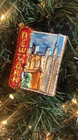 Radko ?NY City Postcard? Ornament
