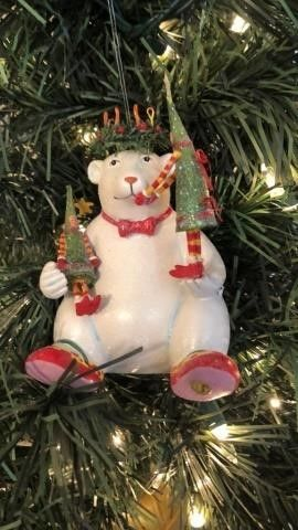 Krinkles Polar Bear Ornament