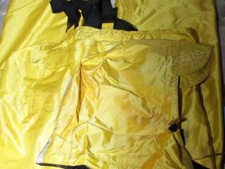 Rain pants & hood size large