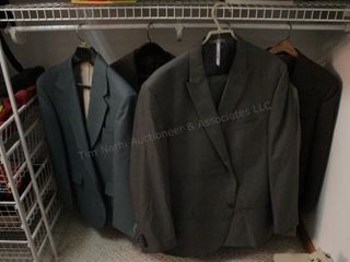 Mens suits & sport coats (5pcs) size 40-50