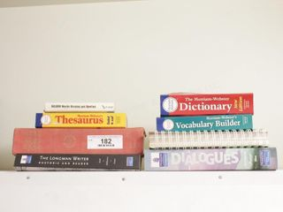 thesaurus, dictionary & vocab books