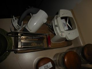Kitchen mixer, french fry cutter etc