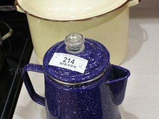 Enamelware pot & coffee maker