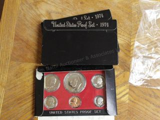 3pcs. Proof Set - 1974