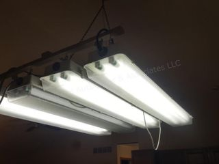4pc Double Bulb Fluorescent Lights