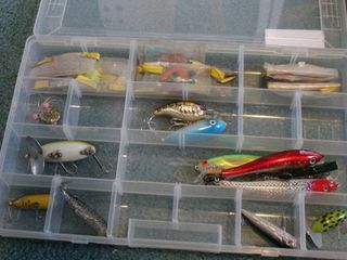 Fishing lures (Heddon, Fred Arbogast, etc.)