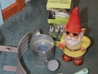 gardening tools & gnome