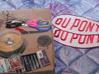 DuPont patches, scissors &clips