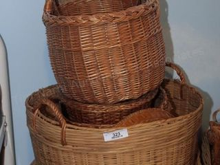 Baskets (2 hamper size & several others)
