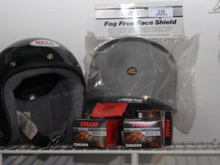 Bell motorcycle helmet (M) & accessories