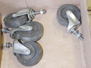 "casters approx 3"" wheels (set of 4)"