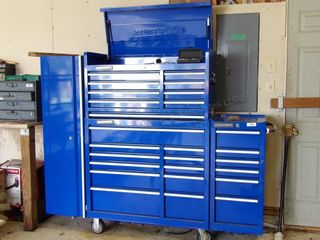 "MasterForce 41"" Tool Chest w/ keys & side cabinets"