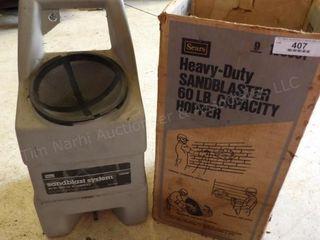 Sears Sandblaster HD 60lb. cap. hose & gun