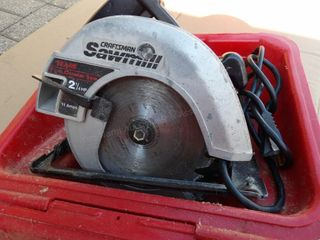 "Craftsman ""Sawmill"" Circular saw 7 1/4"" in case"
