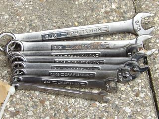 Craftsman wrench set w/ 6pt box end 1/4 to 9/16