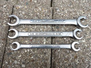 Craftsman fractional line wrench set