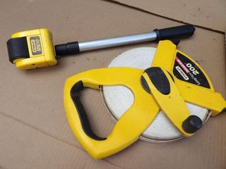 Weller soldering iron,100ft tape & surveying wheel