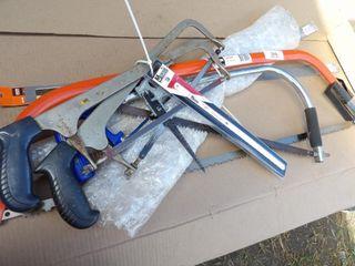 Bow Saws, wood saws, Hacksaws