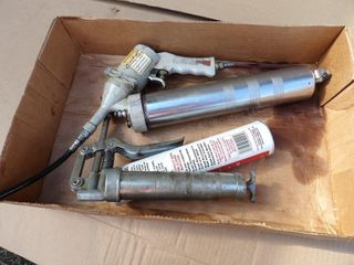 Blue Point pneumatic grease gun, grease, more