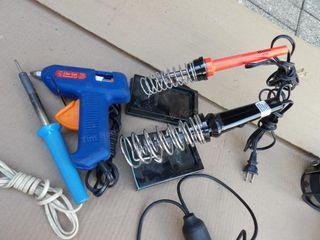 Weller soldering irons & amp meter