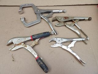 5 locking pliers / welding clamps (3 Craftsman)