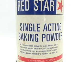 Red Star Baking Soda Canister