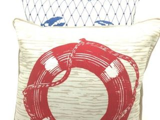 (3) Nautical Themed Throws Pillow 17""