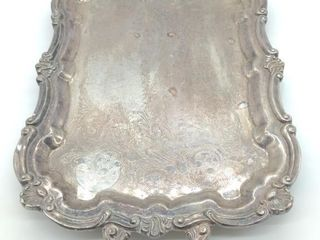"Metal Serving Platter 25"" by 14.5"""