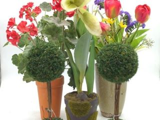 "Faux Plants and Flowers (5pc) 11"" to 19"""
