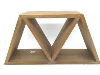 "Triangle Pattern Shelf 20""x6""X10"""
