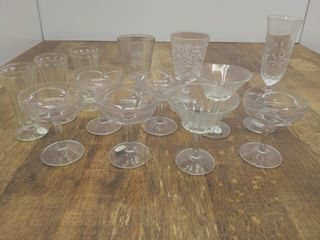 13pc. Mixed Glassware