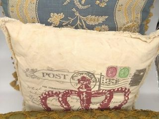 "(3) Throw Pillows 21""x21"", 19""x19"" and 24""x13"""