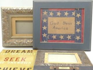 "(4pc) Wall Decor - America Picture Frame 13""x11"","