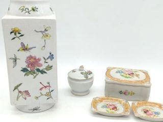 Occupied Japan Salt Tray Set, Rectangular