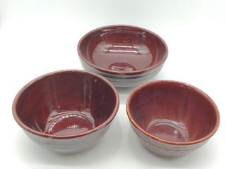 "(2) Mar-Crest Stone Ware Bowls 8"" Diameter and 9"""