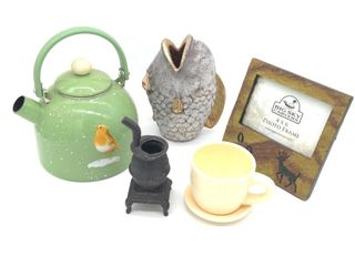 Tea Kettle, Tea Cup, Mini Iron Stove, Ceramic