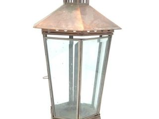 "Copper Lantern 16"" Tall"