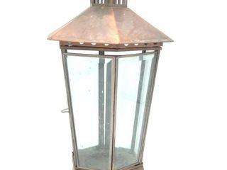 "Copper Lantern 16"" Tall"