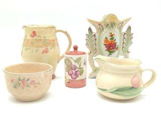 (5pc) Floral Ceramic Decor