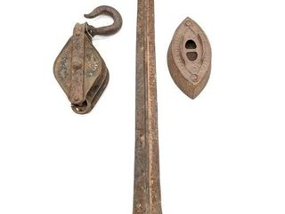 Cobbler's Tool, Pulley and Iron