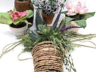 Faux Flowers and Pots