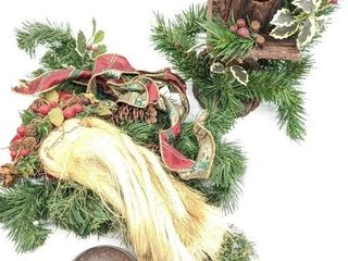 Holiday Decor, Bell, Santa Door Hang Wreath