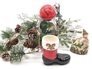 Holiday Center Pieces, Ceramic Snowman, Ceramic