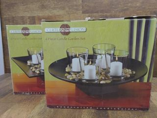 (2) 6-Piece Candle Garden Sets NIB