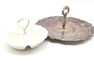 3 Compartment Ceramic Serving Dish no. 370 and